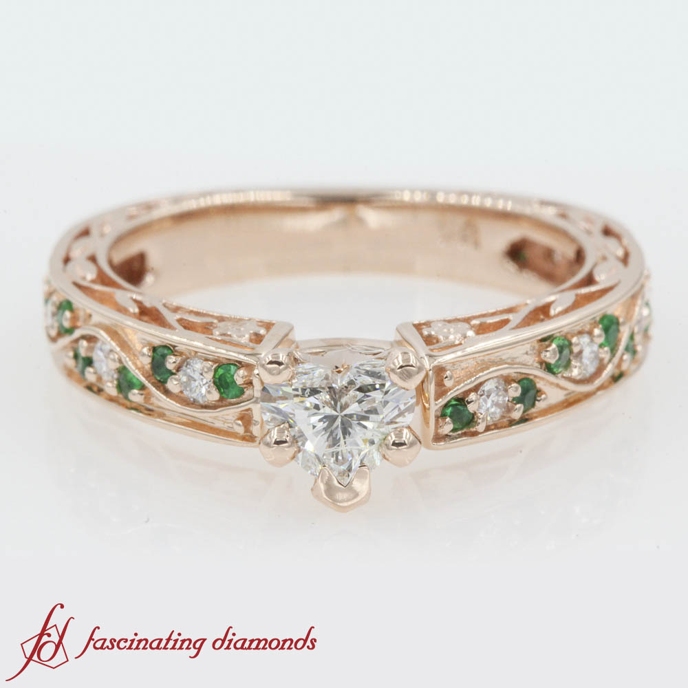 emerald vintage engagement rings