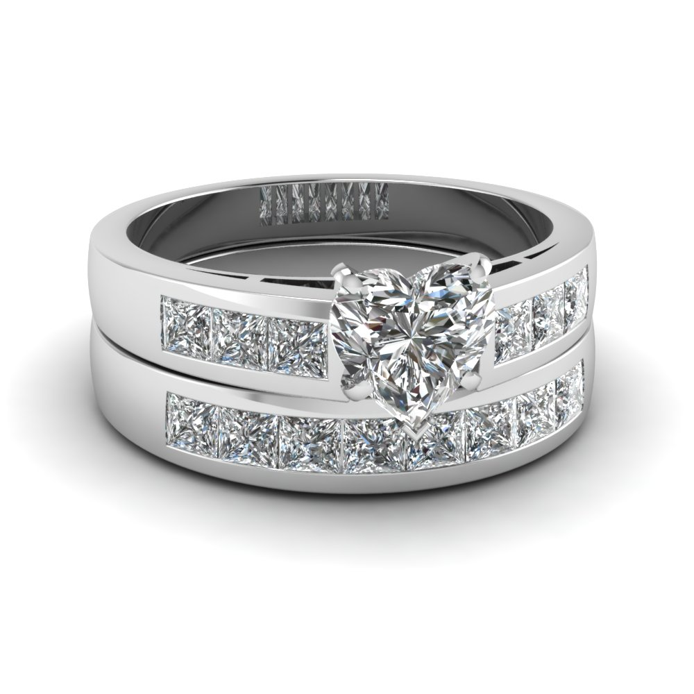 Channel Princess Diamond Wedding Set