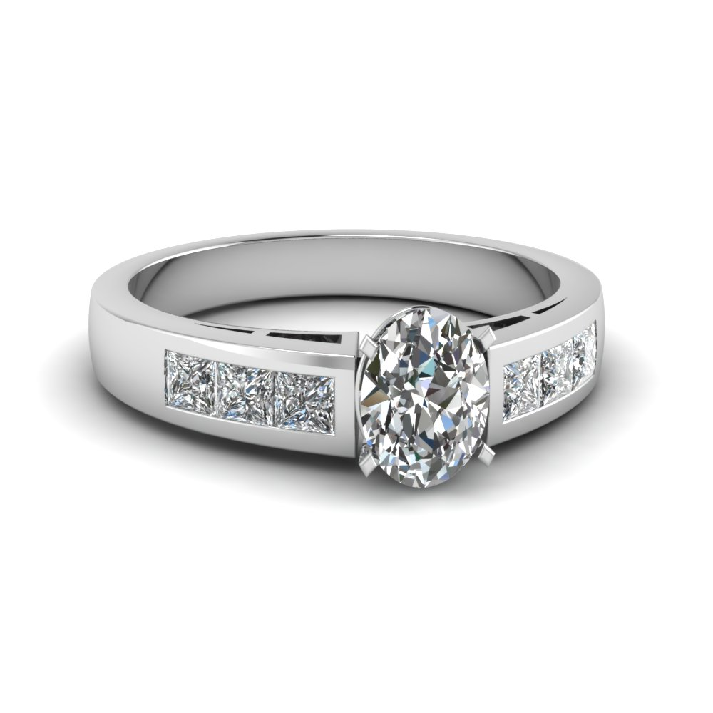 Oval Shaped Diamond Classic Band Engagement Ring